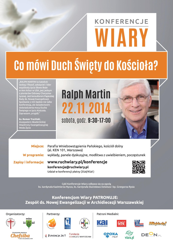 Zapraszamy na Konferencję z Ralphem Martinem